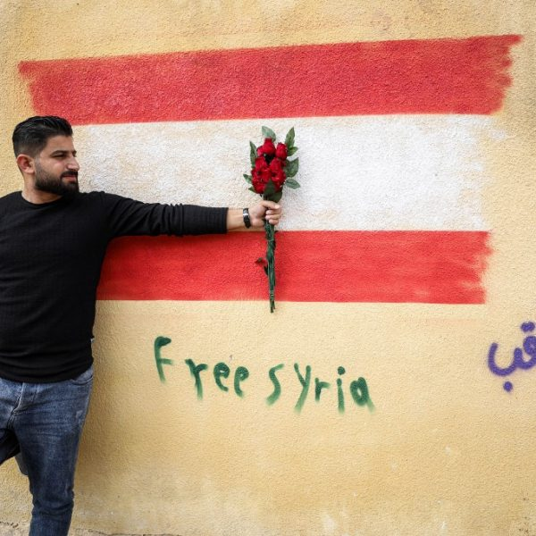 SYRIA-LEBANON-POLITICS-UNREST-MURALS