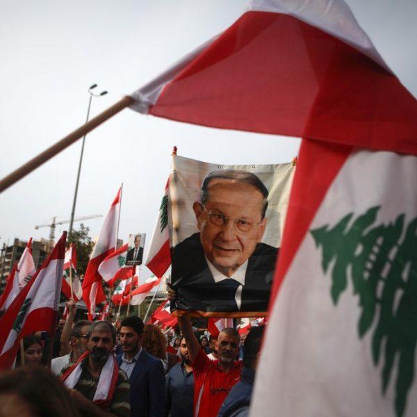 LEBANON-POLITICS-DEMO-AOUN