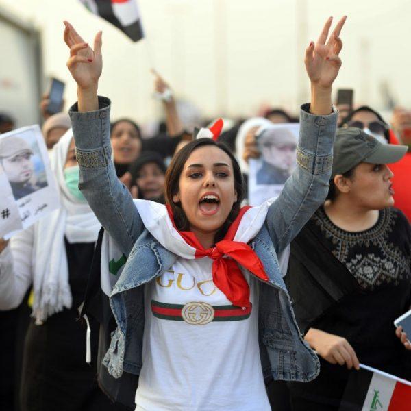 IRAQ-POLITICS-UNIVERSITY-DEMO