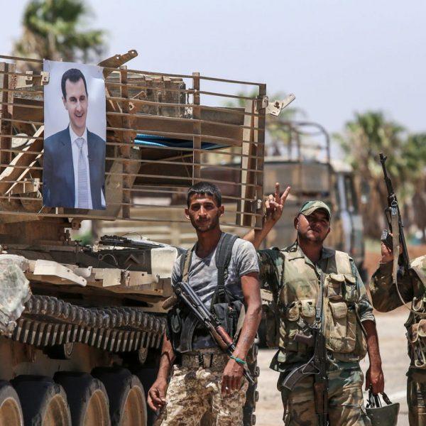assad troops